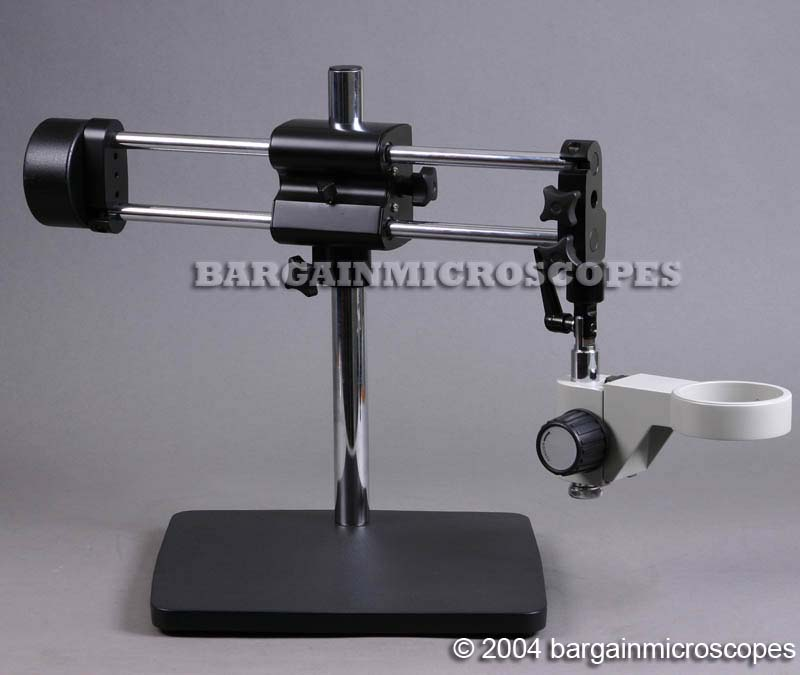 HEAVY DUTY BOOM STAND FOR MICROSCOPE INCLUDES FOCUSING HOLDER