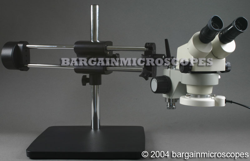 3.5X - 70X ZOOM MAGNIFICATION STEREOSCOPIC BINOCULAR DUAL ARM BOOM STAND MOUNTED BOOM MICROSCOPE BARLOW LENS + USB CAMERA