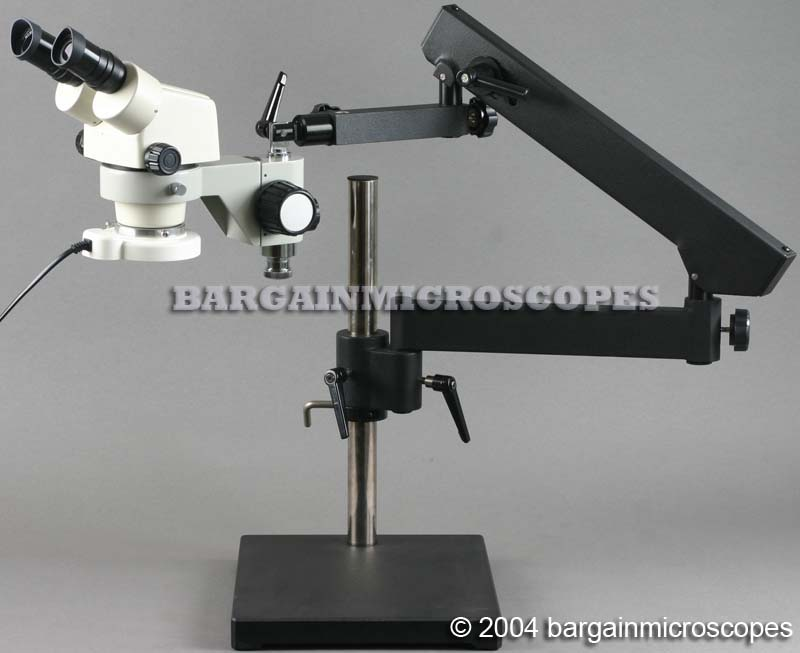 3.5 - 70x Zoom Magnification Stereoscopic Binocular Articulating Jointed Arm Stand USB Computer Connected Boom Microscope