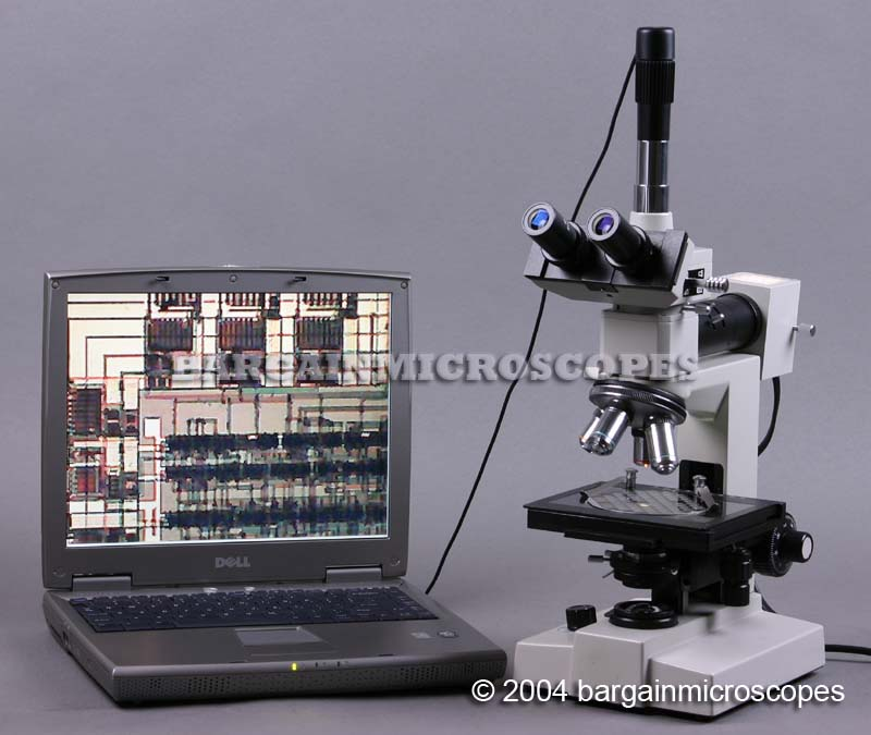 40x - 1008x Metallurgical 3MP USB Camera Connected Trinocular Upright Microscope Epi-Illumination - Brightfield – Darkfield W/ Darkfield Dry/Oil Condensers