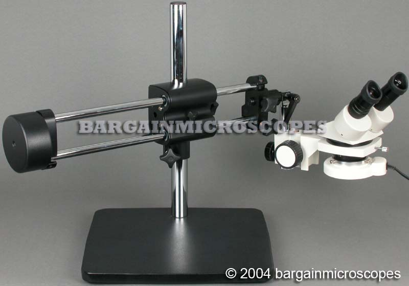 5X-10X-15X-30X MAGNIFICATION STEREOSCOPIC BINOCULAR DUAL ARM BOOM STAND MOUNTED MICROSCOPE W/ PC USB COMPUTER CAMERA