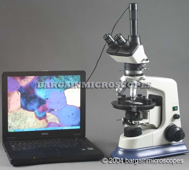 40x - 630x Compound Trinocular Polarizing Geological Microscope W/ Case + Mineral Slides Set USB JPG Image Digital Camera 3 Mpixel Still Images + Video