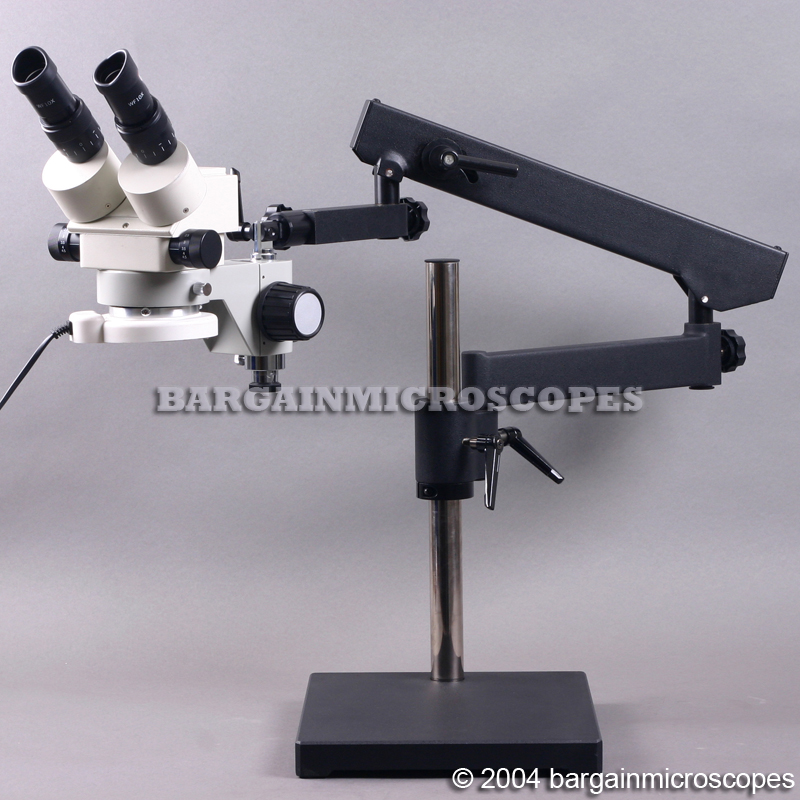 3 - 90x Zoom Magnification Stereo Binocular Microscope Articulating Boom Stand Mount Jointed Flexible Arm + USB Camera For JPG