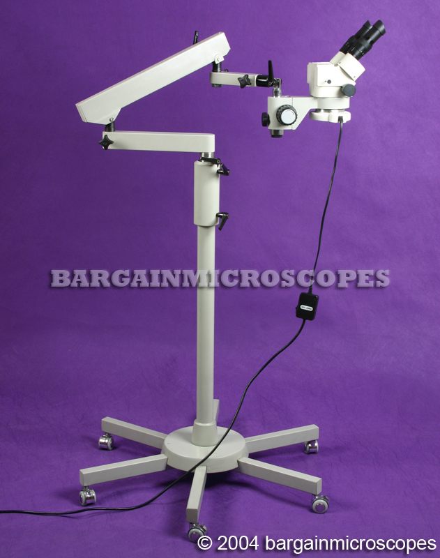 Mobile Floor Stand Mounted 3 - 90x Zoom Magnification Binocular Boom Microscope Storage Case Camera For Computer