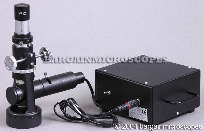 40x - 400x PORTABLE MONOCULAR METALLURGICAL - METALLOGRAPHIC EPI-ILLUMINATION MICROSCOPE W/ RECHARGEABLE BATTERY
