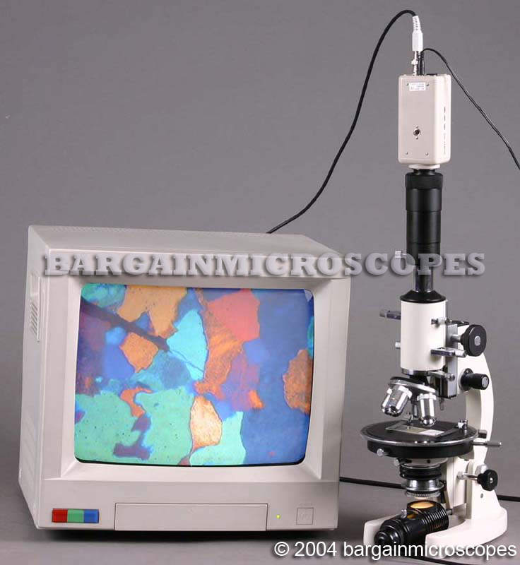 40X - 400X POWER MONOCULAR POLARIZING LIGHT MICROSCOPY PETROGRAPHIC MICROSCOPE