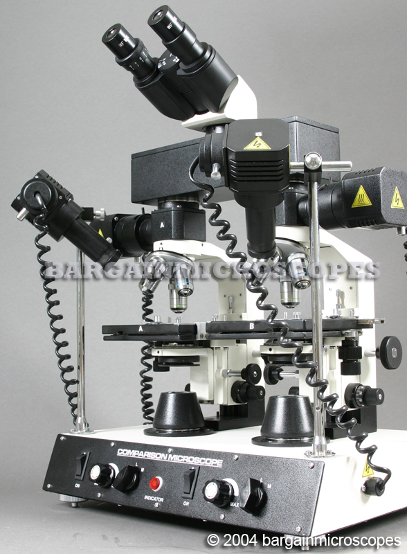 40 - 600x FORENSIC HIGH POWER METALLURGICAL COMPARISON UPPER - EPI - TRANSMITTED LIGHT CSI INVESTIGATION MICROSCOPE