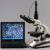 Connect to computer to take digital images.  Microscope camera included, computer not included. Photo shows digital microscope camera. Actual camera included may be different style than shown.