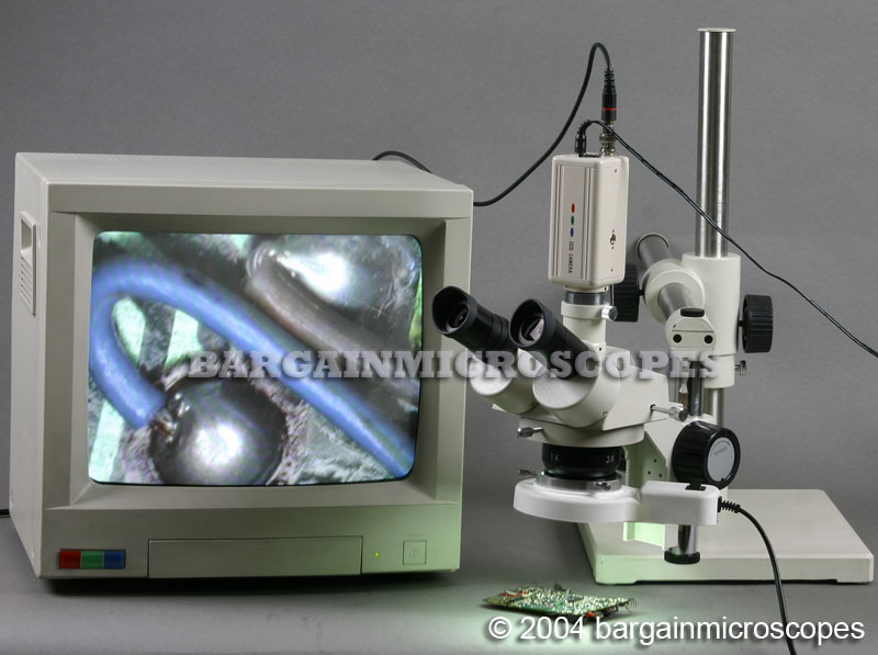 10x - 30x Magnification Stereoscopic Trinocular Classic Boom Stand Boom Microscope USB And CCD Camera