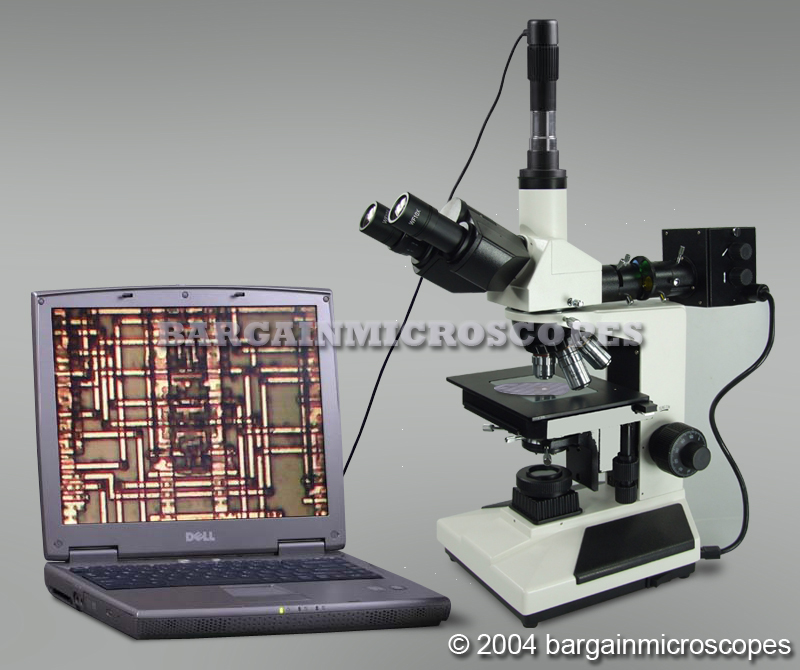 50-1000x Upright Metallurgical Metallograph Microscope Reflected Epi-Illumination + Bottom Transmitted Light Measure Kit + 3MP Camera