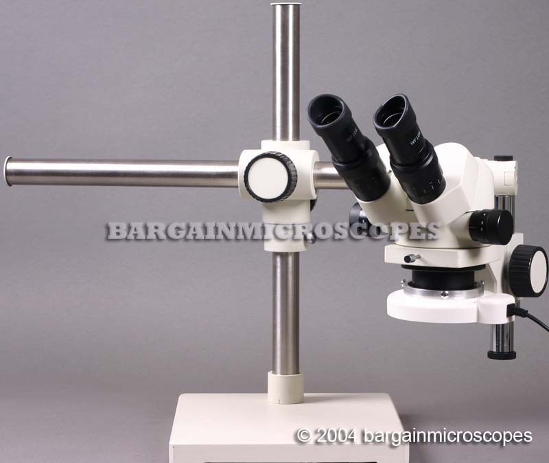 3x - 120x High Ratio Zoom 6-60x Continuous Zoom Stereoscopic Binocular Boom Stand Mounted Microscope Travel Case + USB Camera