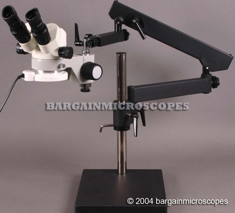 3x - 120x High Ratio Zoom 6-60x Continuous Zoom Stereo Binocular Microscope Articulating Jointed Boom Stand PC USB Camera For JPG