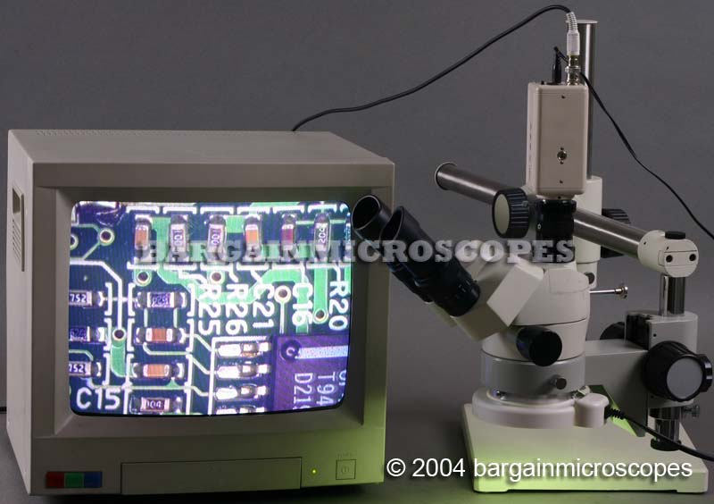 3x - 120x High Ratio Zoom Trinocular Stereo Microscope Boom Stand Mounted Durable Storage Case Video/USB Camera + Measure Kit