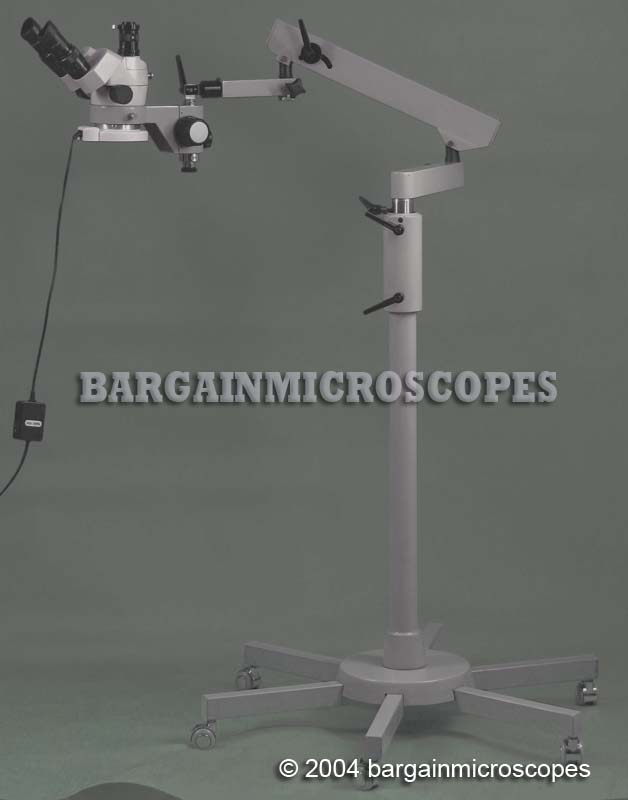 Mobile Floor Stand Boom 3x - 120x Zoom High Ratio Stereo Trinocular Microscope Carrying/Storing Case Camera + Measuring Set