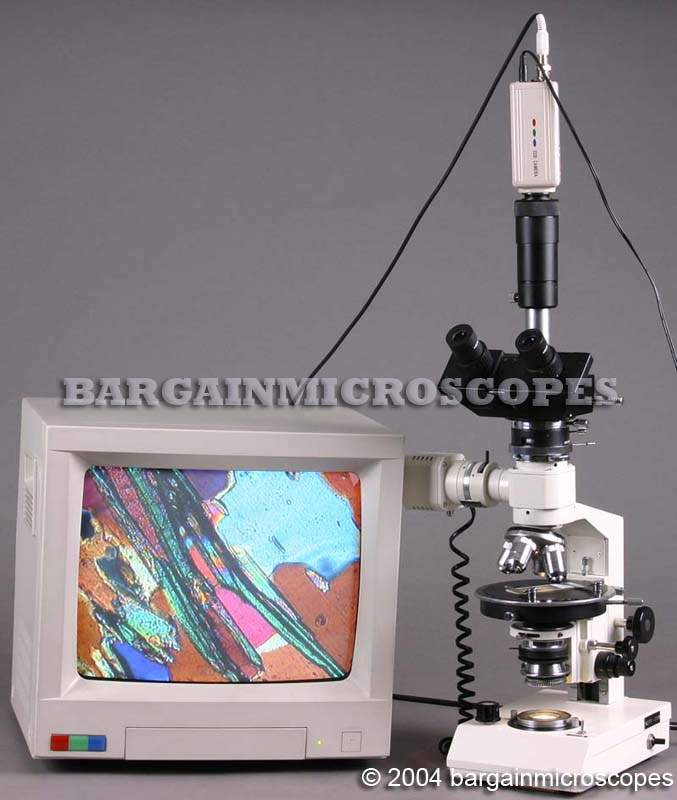 40x-600x ROCK AND MINERAL ORE PETROGRAPHIC MICROSCOPE REFLECTED POLARIZED LIGHT TRANSMITTED POLARIZED LIGHT THIN OR THICK ORE ROCK VIEWING